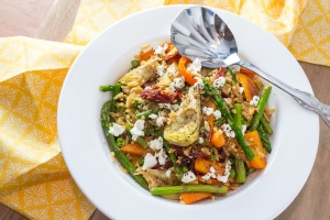 Vegetables with Orzo