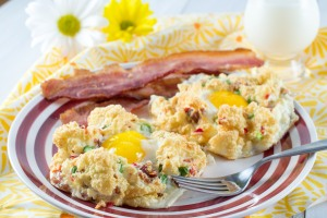 Eggs in Chili Bacon Clouds