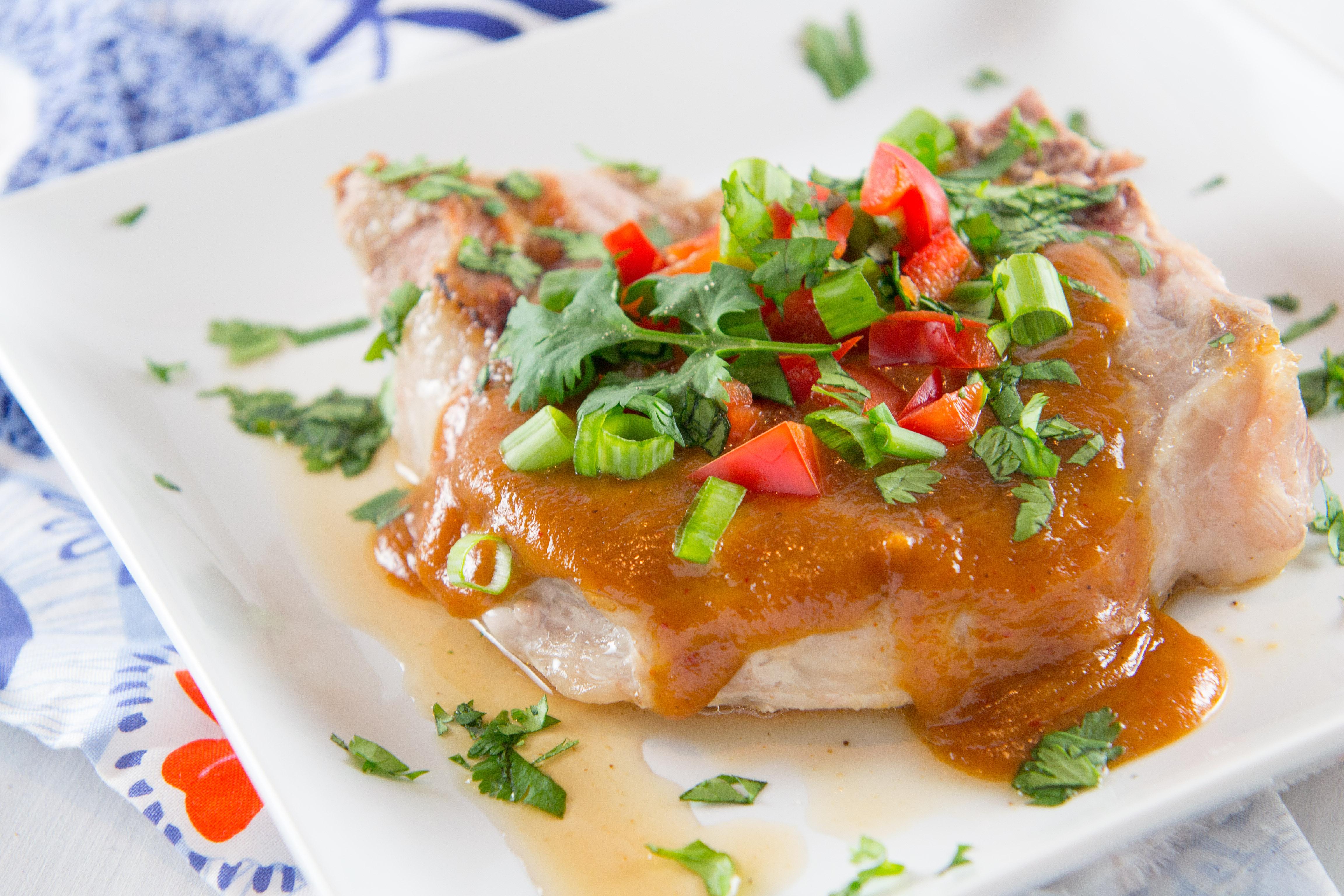 Pork Chops with Thai Peanut Sauce | Rachel's blog