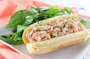Salmon Roll Sandwiches