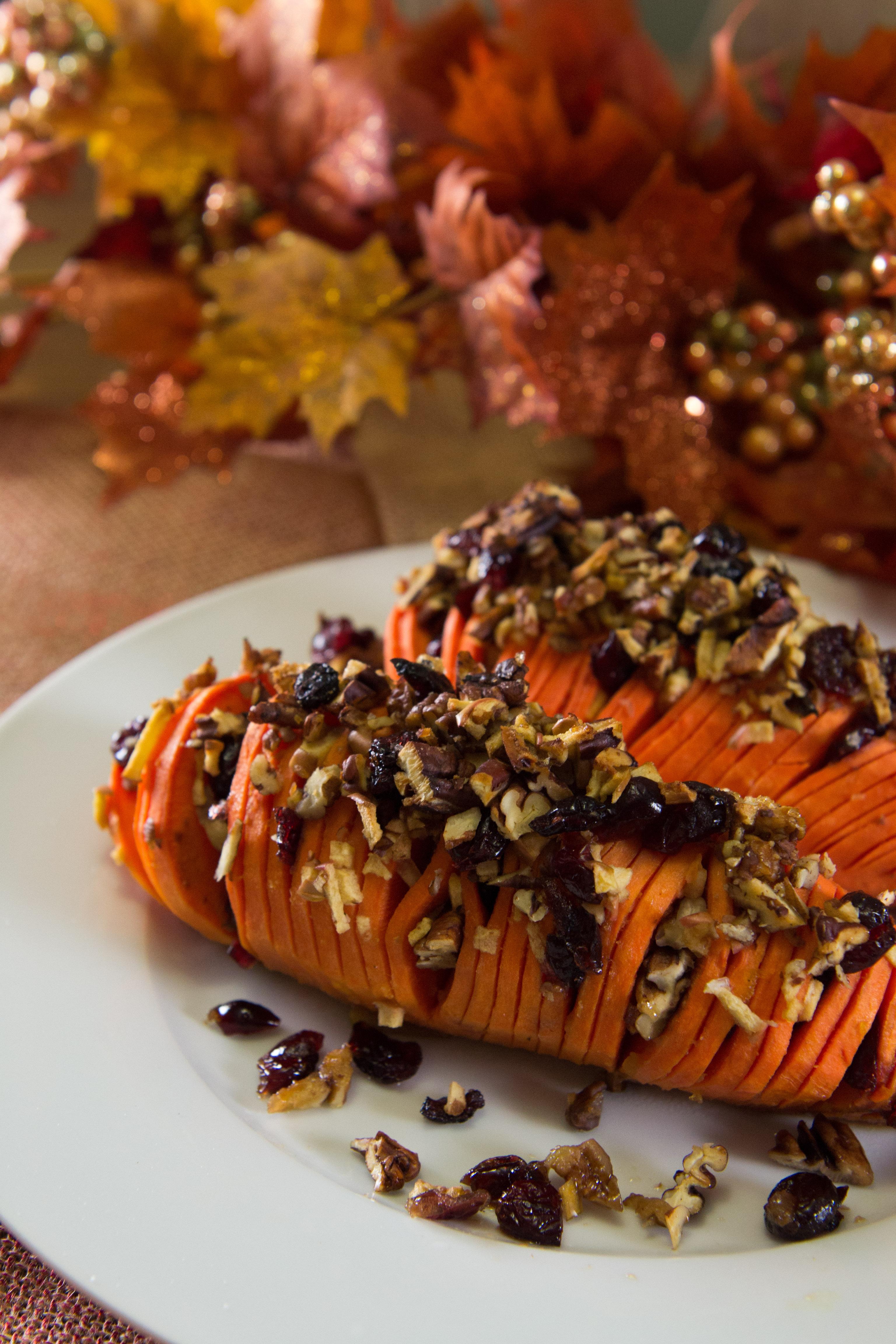 Hasselback Sweet Potatoes | Rachel's blog