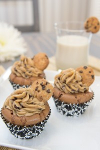 Cookie Dough Frosted Cupcakes