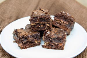 Fudgy Almond Toffee Brownies